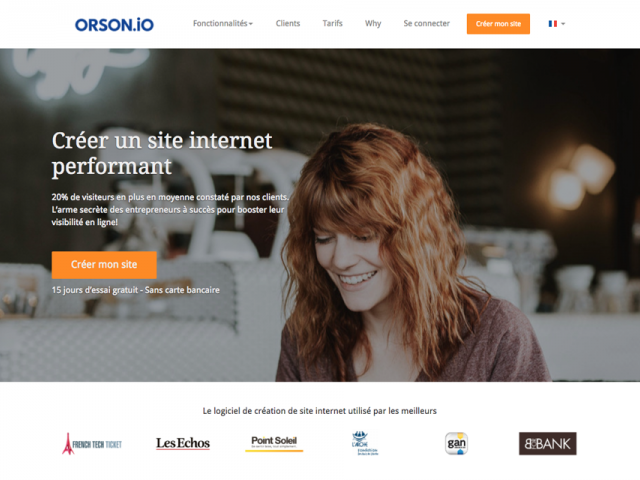 Orson.io :  la création simple de votre site internet performant